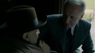 David Suchet as Hercule Poirot and Hugh Fraser as Hastings.