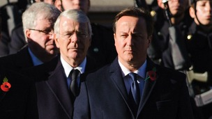 David Cameron's comments indicated he was stung by the claims made by former Prime Minister John Major.