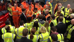 The Deputy PM was visiting to help launch 25 more apprenticeships