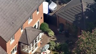 "A neighbour claims a man was seen acting ""weirdly"" outside the Ding family home."
