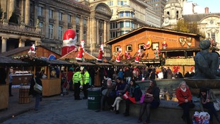 Shoppers enjoy Birmingham Christmas Market today