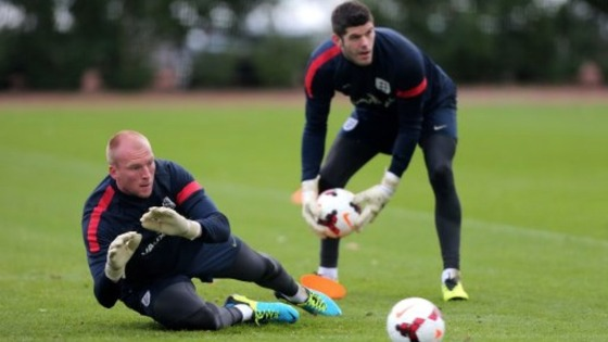 John Ruddy and Fraser Forster are involved in a battle to start against Chile.