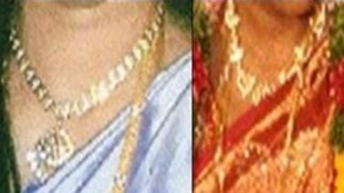 Amirthaluxmy Arunthavalingam has appealed for the return of the jewellery.