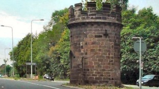 The historic Round Tower in Cheshire
