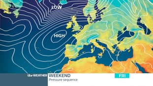 Pressure Chart: High Pressure keeping it settled today