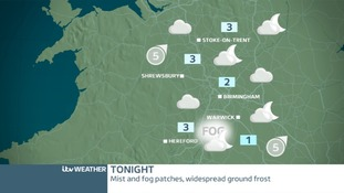 West Midlands Friday night forecast