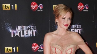 Amanda Holden arriving at the Britain's Got Talent pre-final party