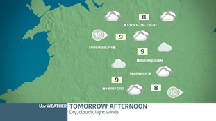 West Midlands Saturday afternoon forecast