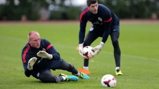 Fraser Forster has been preferred to Norwich City's John Ruddy.