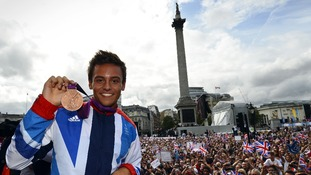 One of Britain's leading lights from London 2012, Tom Daley, won a bronze medal.