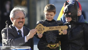 The five-year-old met San Franscisco's Mayor,  Ed Lee.