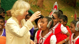 The Duchess of Cornwall during a visit to the Home Start centre, which was funded by Leeds City Council.