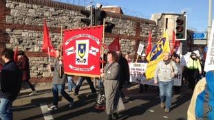 Protestors in Portsmouth