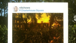 Charterhouse Square has a rather yellow glow!