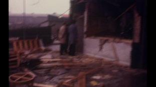 Inside a destroyed pub