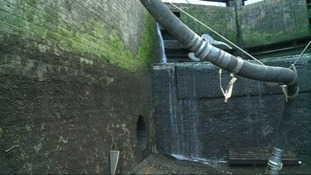 The lock's pipework