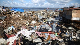 A view of typhoon-ravaged Tacloban city in Philippines.