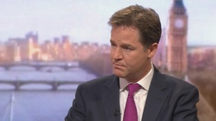Deputy Prime Minister Nick Clegg speaks on the BBC's Andrew Marr Show.