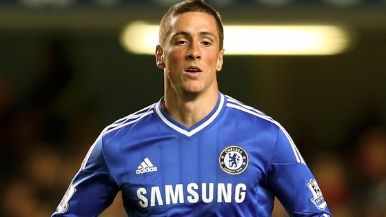 Fernando Torres in his Chelsea strip.
