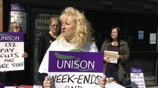 Council workers walk out in Chester