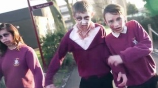Pupils at Sawston Village College had to survive in a school inhabited by both humans and zombies.