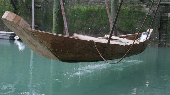 replica of bronze age boat
