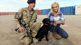 The mezzo-soprano singer met with Army divers and military working dog teams while in Afghanistan.
