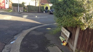 Trent Road in Luton where an elderly lady was stabbed.