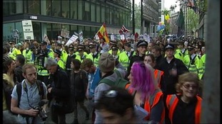 Occupy protesters in London