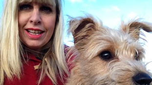 ITV Anglia's Natalie Gray enjoys a walk with Wilf on Norfolk's Weavers' Way.