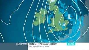 TUESDAY NIGHT - Rain will spread southeastwards overnight