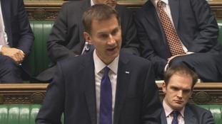 Health Secretary Jeremy Hunt addresses the House of Commons.
