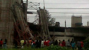 50 workers are trapped under the rubble, emergency service said.