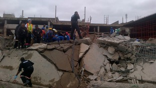 More than 100 emergency workers are currently attempting to rescue survivors of the collapse.
