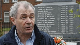 Mickey McKinney, who brother was shot on Bloody Sunday, in 2010