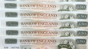 Bank notes worth tens of thousands of pounds have been found floating in a river in Spalding.