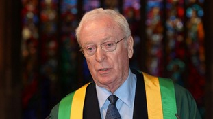 Sir Michael Caine received his award at St George's Cathedral in London.