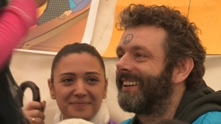 Michael Sheen gets a smiley face, used to reward good beahviour