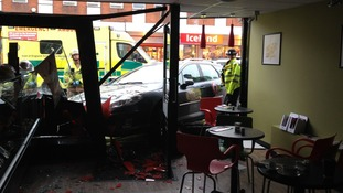 The incident happened at around 9:15 am at the Flour and Bean on the town's High Street.