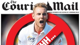 Aussie newspaper bans name of 'Pommie cheat' Stuart Broad