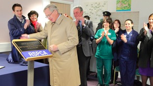 The Duke of Gloucester opens the new RSPCA animal centre in Birmingham