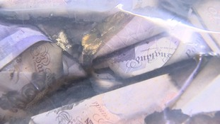 £60,000 was found floating down a river in Spalding.