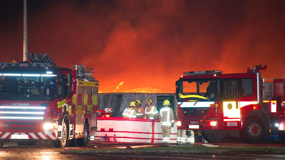 Blooms Garden Centre: Firefighters Tackling Large Fire At Blooms Garden Centre