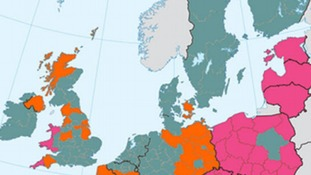 European aid map north
