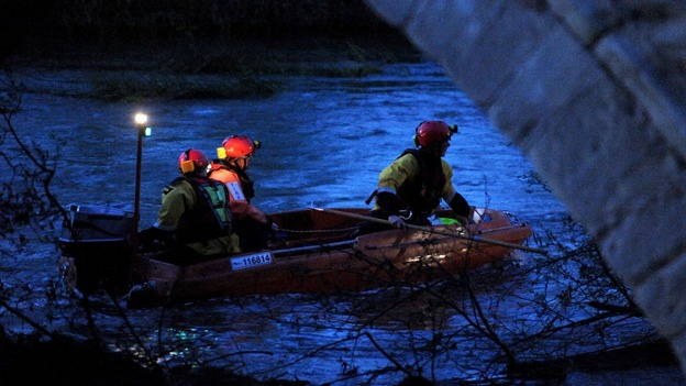 Search operation after a rowing boat overturned