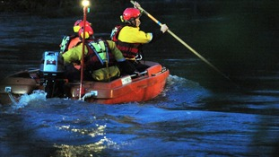 Search and rescue operation at Barford. near Warwick
