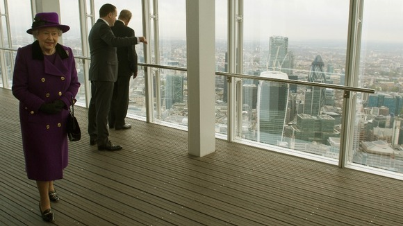 Queen Given Bird S Eye View Of London From The Shard
