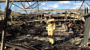 Fire forces garden centre to close