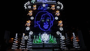 The design was created by Blinkbox using more than 10,000 lights and 50 metres of light rope.