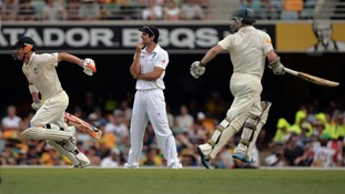 England's cricket captain, Alastair Cook, has much to ponder after the second day's play.